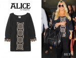 Jessica Simpson's Alice by Temperley Rita Embroidered Silk Crepe de Chine Tunic