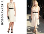 Kaley Cuoco's BCBG Max Azria Pleated Dress