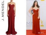 Kat Dennings' J Mendel Sweetheart Bodice Gown
