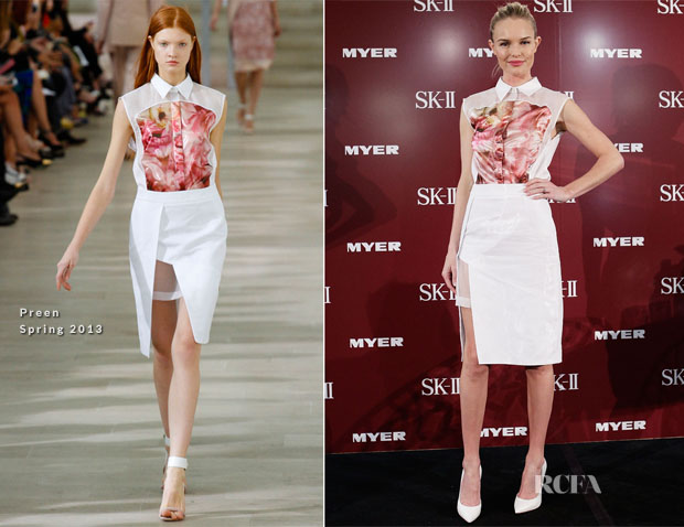Kate Bosworth In Preen - SK-II Skincare Line Myer Sydney City