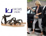 Kate Moss' K Jacques St Tropez Epicure Multi Strap Leather Sandals