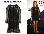 Kate Walsh's Isabel Marant Embroidered Cotton Mesh Dress