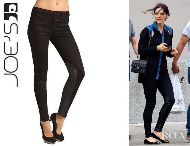 Katharine McPhee's Joe's Jeans Skinny Leather Jaupher ...