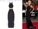 Katherine Jenkins' Stella McCartney Saskia Stretch Cady And Mesh Gown