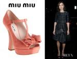 Keira Knightley's Miu Miu T-Strap Bow Pumps