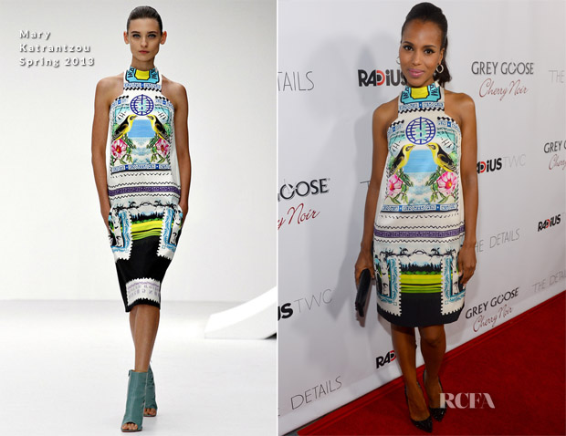 Kerry Washington In Mary Katrantzou - 'The Details' LA Premiere