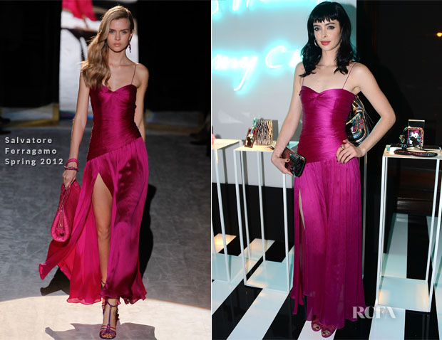 Krysten Ritter In Salvatore Ferragamo - Jimmy Choo and Rob Pruitt Collection Launch