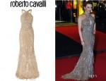 Kylie Minogue's Roberto Cavalli Embellished Silk Chiffon Gown