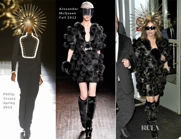 Lady Gaga In Alexander McQueen & Philip Treacy- Harrods Fragrance Launch