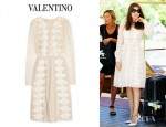 Laetitia Casta's Valentino Embroidered Chantilly Lace Dress