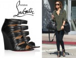Lauren Conrad's Christian Louboutin Developpa Leather Wedge Sandals