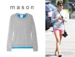 Lea Michele's Mason by Michelle Mason Silk Backed Fine Knit Cashmere Top