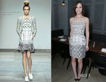 Leighton Meester In Mary Katrantzou - Flaunt Magazine Cover Party