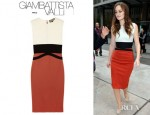 Leighton Meester's Giambattista Valli Colour Block Dress