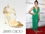 Louise Roe's Jimmy Choo Lance Mirrored Metallic Leather Sandals