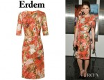 Mary Elizabeth Winstead's Erdem Ivy Sequin Encrusted Lace Dress