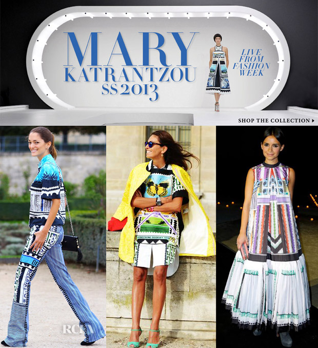 Mary Katrantzou & Current Elliott x Mary Katrantzou Spring 2013 On Moda Operandi