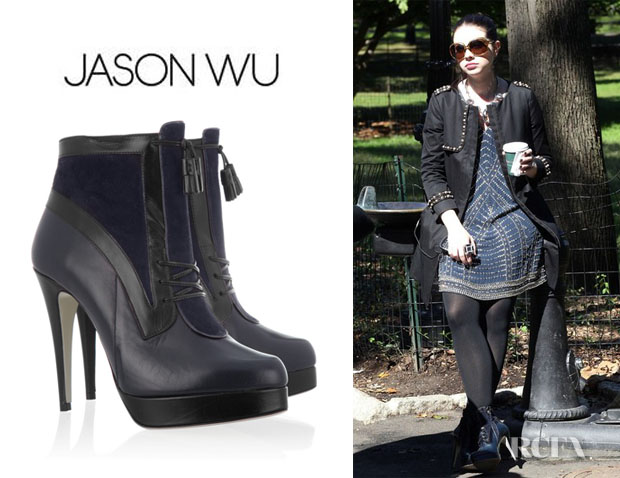 Michelle Trachtenberg's Jason Wu Two Tone Ankle Boots