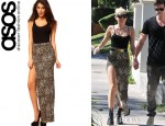 Miley Cyrus' ASOS Animal Maxi Skirt