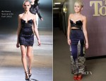 Miley Cyrus In Anthony Vaccarello & Moschino - The Tonight Show With Jay Leno