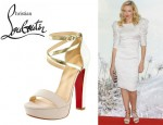 Naomi Watts' Christian Louboutin Summerissima Crisscross Platform Sandals