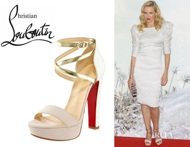 red and gold spiked louboutins - christian louboutin criss cross platform | Natural Smiles blog