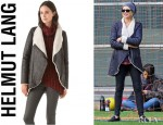 Naomi Watts' Helmut Lang Weathered Shearling Jacket