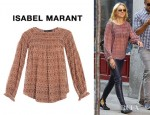 Naomi Watts' Isabel Marant Dajo Waffle Georgette Blouse