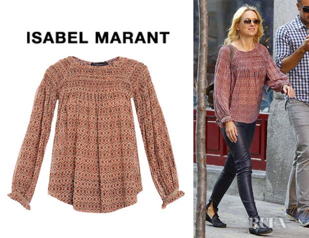Isabel Marant Georgette Blouse Hot Black