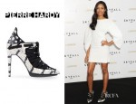 Naomie Harris' Pierre Hardy Laced Ankle Boots