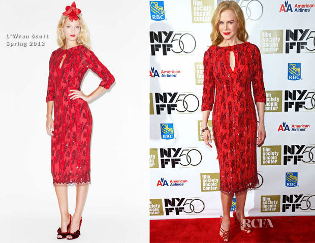 Nicole Kidman In L'Wren Scott - 2012  New York Film Festival