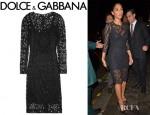 Nicole Scherzinger's Dolce & Gabbana Macramé Lace Dress