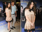 Nikki Reed In Dolce & Gabbana - The Twilight Saga: Breaking Dawn Part 2 Glasgow Photocall