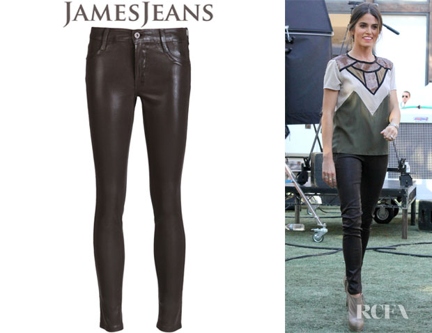 Nikki Reed's James Jeans Twiggy Coated Leggings
