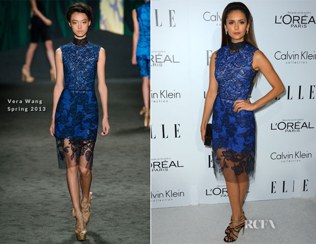 Nina Dobrev In Vera Wang - Elle's 19th Annual Women In Hollywood Celebration