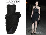 Pace Wu's Lanvin Pleated Taffeta Dress