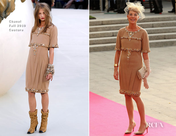 Princess Caroline of Hannover In Chanel Couture Fall 2010 - Royal Wedding