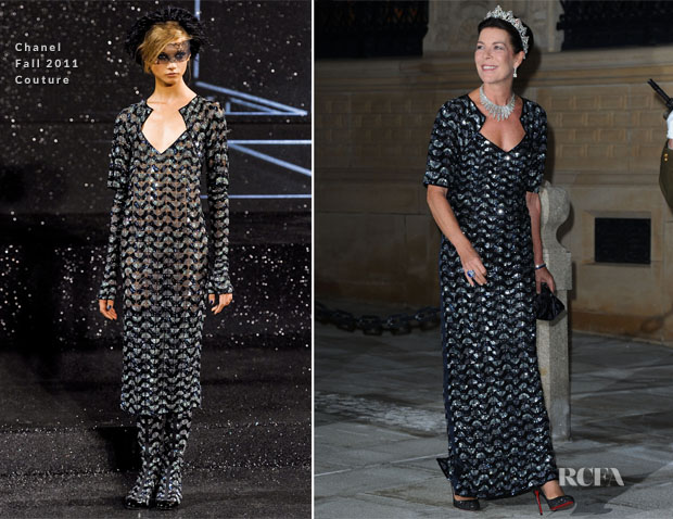 Princess Caroline of Hannover In Chanel Couture - Royal Wedding