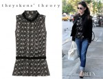 Rachel Bilson's Theyskens' Theory Basha Printed Silk Blouse