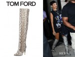 Rihanna's Tom Ford Over The Knee Anaconda Boots