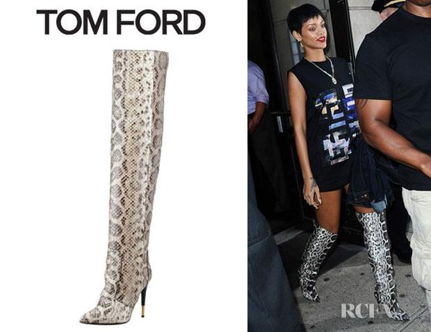 721f9cc3db2 Rihanna tom ford over the knee anaconda boots red carpet fashion jpg  620x478 Anaconda rihanna