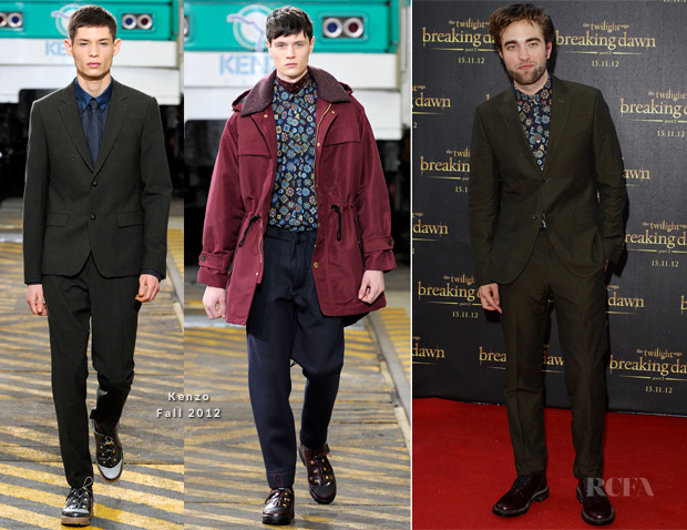 Robert Pattinson In Kenzo Fall 2012 - 'Twilight Saga Breaking Dawn – Part 2' Sydney Fan Event