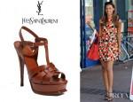 Rochelle Wiseman's YSL Tribute Platform Sandals
