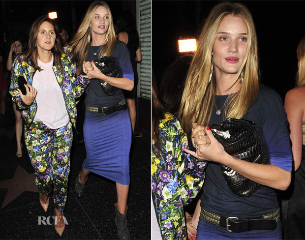 Rosie Huntington-Whiteley In Style Stalker - Out In LA