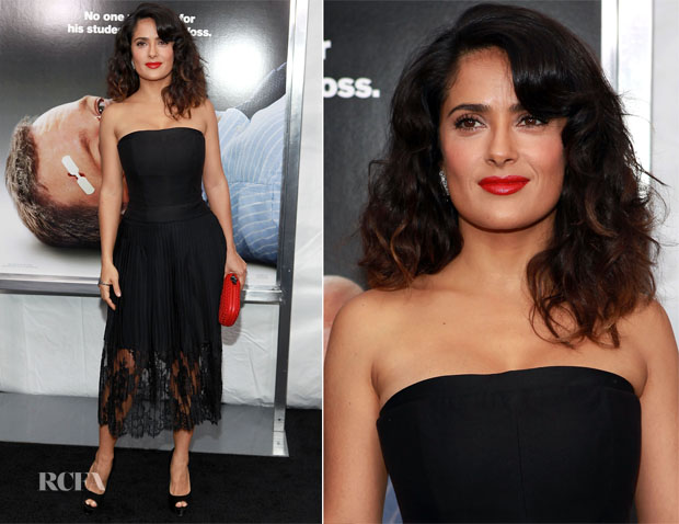 Salma Hayek In Stella McCartney - 'Here Comes The Boom' New York Premiere