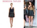 Shenae Grimes' Rebecca Taylor Python Print Skirt