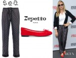 Sienna Miller's Sea NY Cravat Print Trousers And Repetto Ballerina Flats