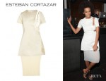 Solange Knowles' Esteban Cortazar Cutout Bustier Dress