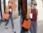 Taylor Swift In French Connection & AG Adriano Goldschmied - The Hospital Club