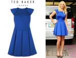 Tulisa Contostavlos' Ted Baker Kipp Full Pleated Dress